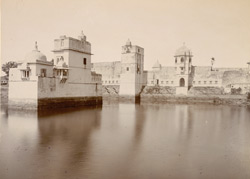 Padamanis [Rani Padmani] Palace at Chitorgarh with its lake